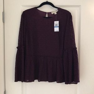BRAND NEW MK Lace Top